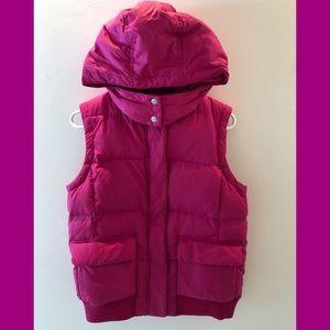 Pink GAP Puffer Vest w/Detachable Hood